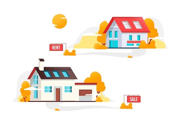 Dom na sprzedaż koncepcja