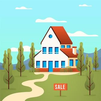 Dom na sprzedaż motyw