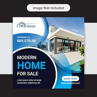 Dom na sprzedaż nieruchomości media społecznościowe insta post design