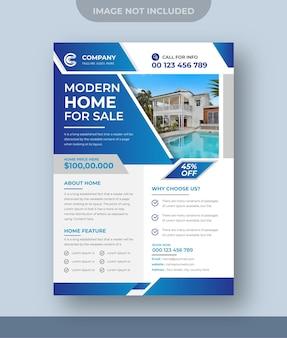 Dom na sprzedaż projekt ulotki nieruchomości marketing cyfrowy post na instagramie