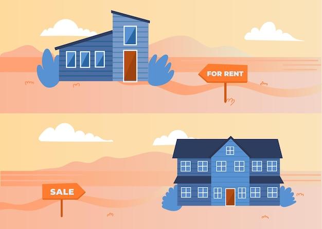 Dom na sprzedaż / wynajem ilustracji