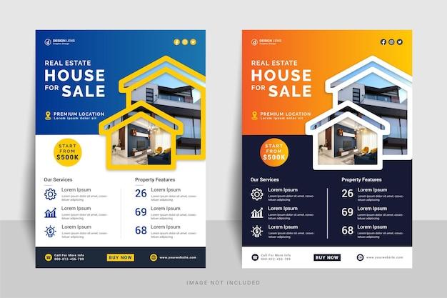 Dom nieruchomości na sprzedaż szablon ulotki