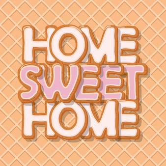Dom słodki tło do domu.