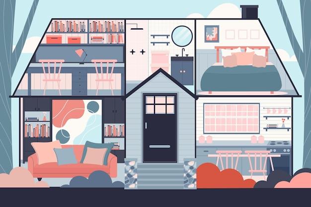 Dom w koncepcji przekroju