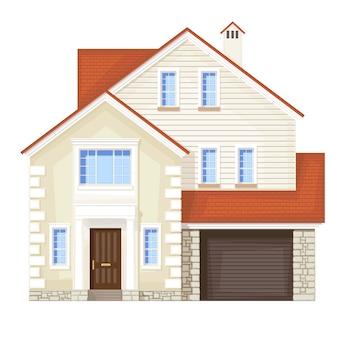 Dom z drzwiami wejściowymi
