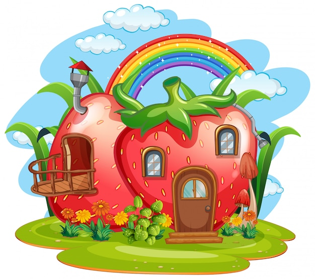 Dom z owocami fantasy