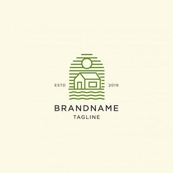 Domowa logo szablonu ilustracja