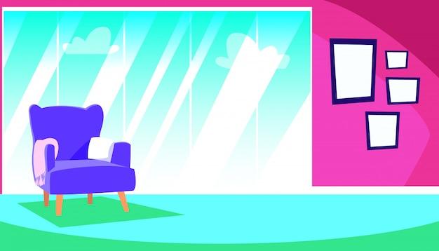 Domowa scena z sofą i dekoracyjnymi wnętrzami