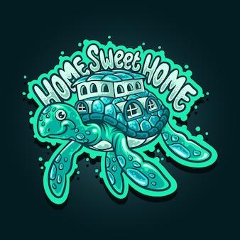 Domowa słodka domowa ilustracja