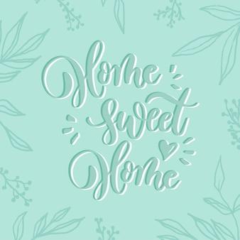 Domowa słodka strona domowa - karta z napisem.