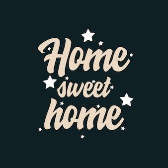 Domowa słodka typografia do domu
