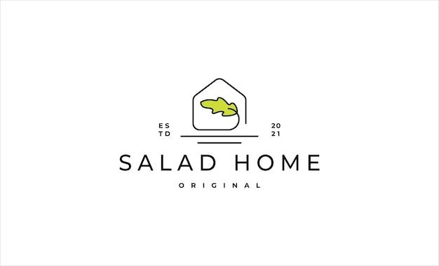 Domowe sałatka logo projekt ikona ilustracja wektorowa projektu