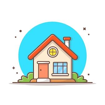 Domowego budynku ikony wektorowa ilustracja. budynku i punktu zwrotnego ikony pojęcia biel odizolowywający