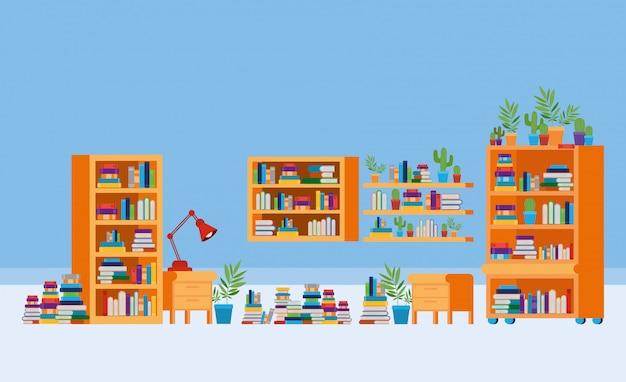 Domowy gabinet z książkami