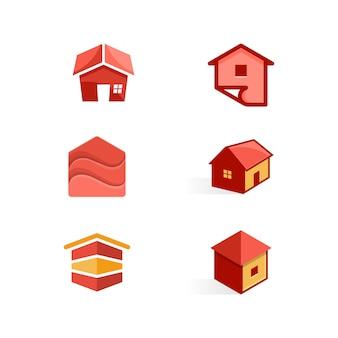 Domowy koloru pojęcia ilustracyjny wektorowy projekta szablon