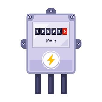 Domowy licznik energii elektrycznej liczy energię.
