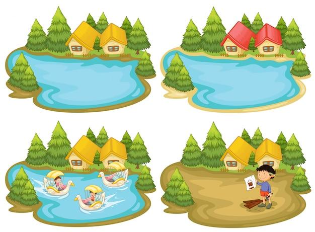 Domy przy jeziorze