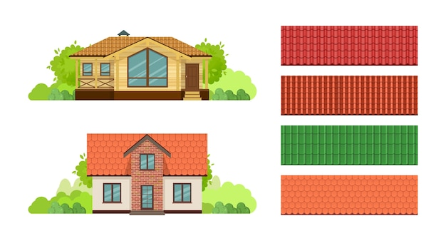 Domy wiejskie, chata kryta dachówką