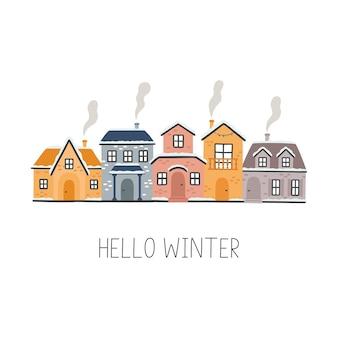 Domy z kreskówek witam zima