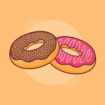 Donut donuts popularna przekąska na słodko