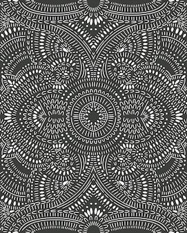 Doodle abstrakcjonistyczny bezszwowy wzór