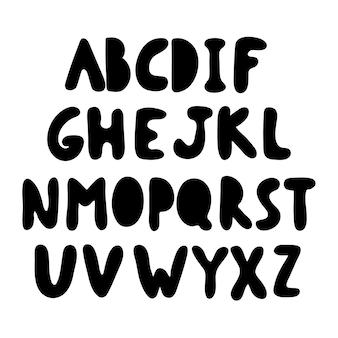 Doodle alfabet wyciągnąć rękę do projektowania banerów ikona strzałki elegancka dekoracja modny design