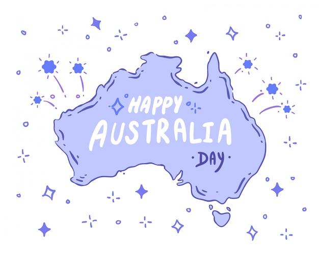 Doodle australii. wektor australii