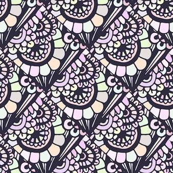 Doodle bezszwowy wzór w wektorze. twórczy kwiatowy tło dla swojego projektu, papier pakowy, włókienniczych