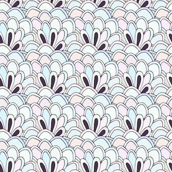Doodle bezszwowy wzór z kwiatami. kolorowanki wektorowe. twórczy tło dla książki tekstylne lub kolorowanki.