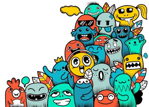 Doodle cute monster