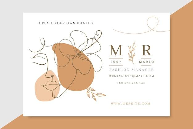Doodle eleganckie karty mody