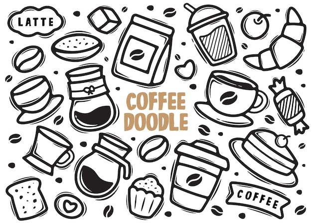 Doodle elementu kawy