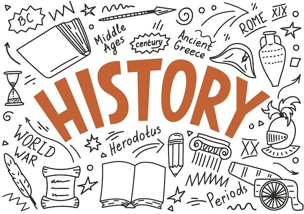 Doodle historii z napisem