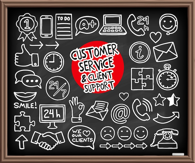 Doodle ikona obsługi klienta