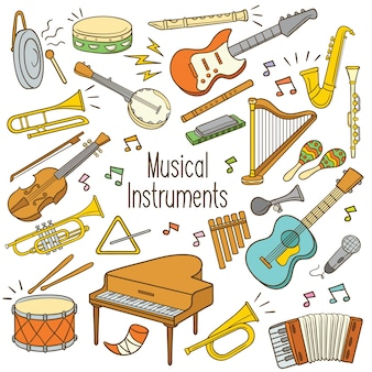 Doodle instrumenty muzyczne