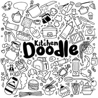 Doodle jedzenia i kuchni