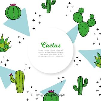 Doodle kaktusowy tło