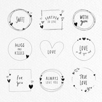 Doodle kolekcja ramek miłości