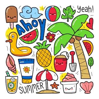 Doodle kolekcja zestaw elementu letniego
