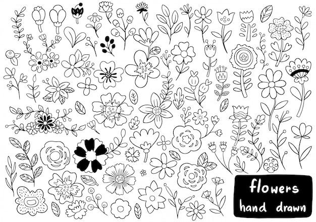 Doodle kwiaty