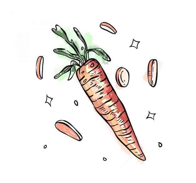 Doodle marchewki