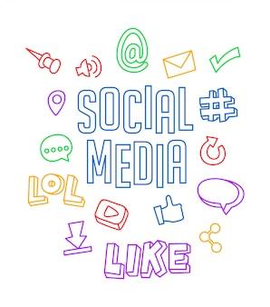 Doodle mediów społecznych
