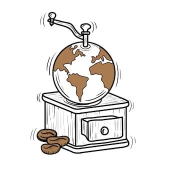 Doodle międzynarodowy dzień kawy ilustracja