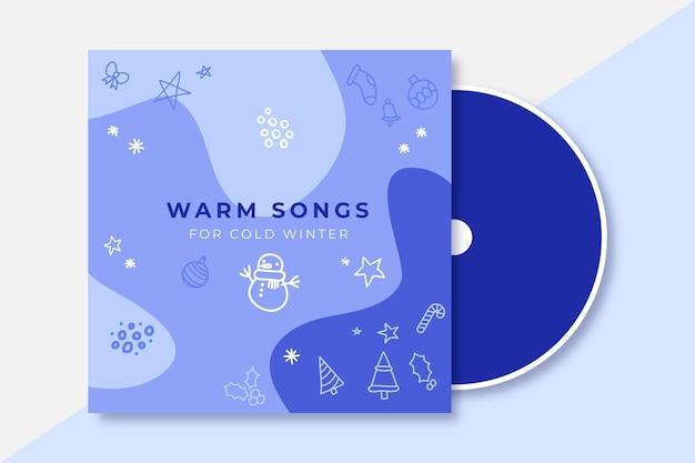 Doodle monokolorowa zimowa okładka cd