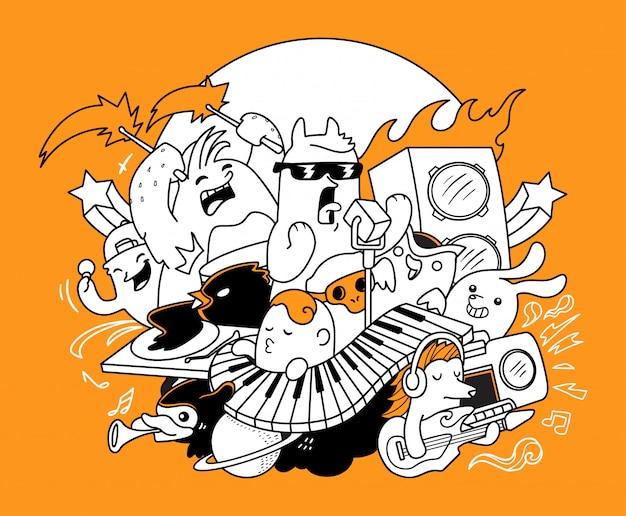 Doodle muzyki