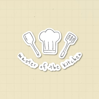 Doodle naklejki sprzęt kuchenny