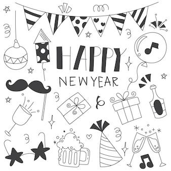 Doodle nowego roku