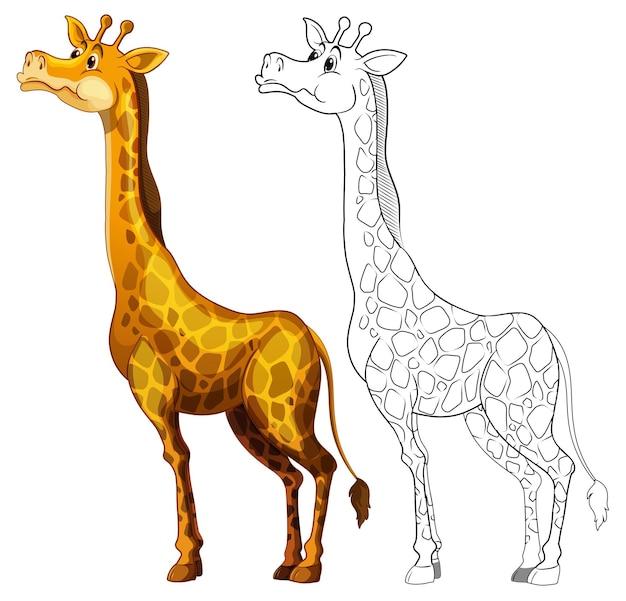 Doodle rysowanie zwierząt dla żyrafy