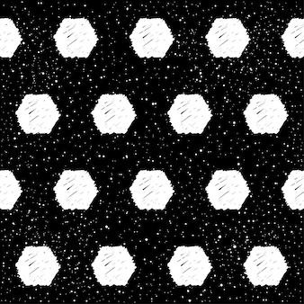 Doodle streszczenie tło patten bezszwowe. monochromatyczny czarno-biały wzór na projekt kartki z życzeniami, nowoczesne zaproszenie na przyjęcie, halloweenowe menu świąteczne, nadruk torby, projekt koszulki itp.