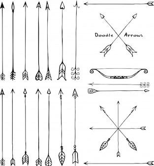 Doodle strzałki
